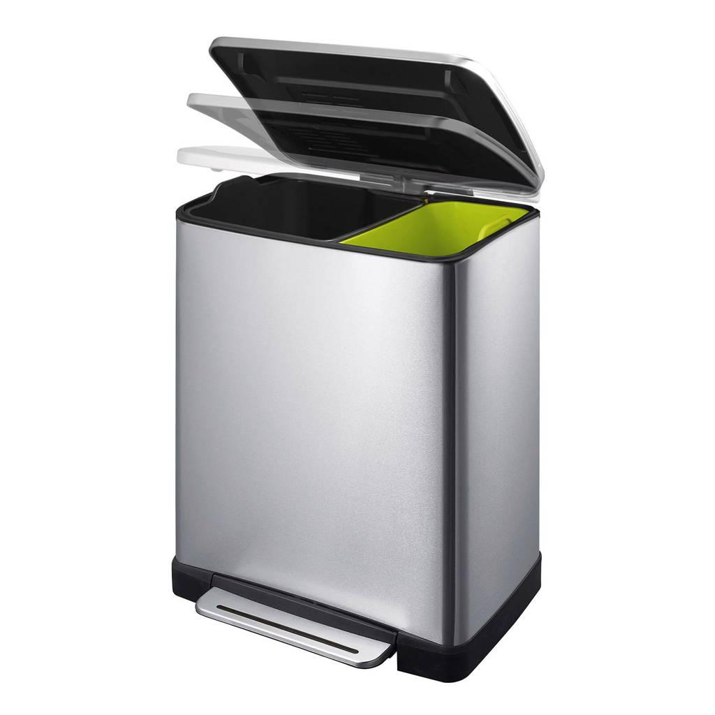 EKO Recycle E-Cube 9+10 liter pedaalemmer, 19, Mat rvs