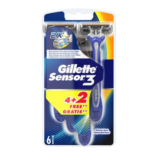 Gillette Sensor 3 - 6 wegwerpmesjes