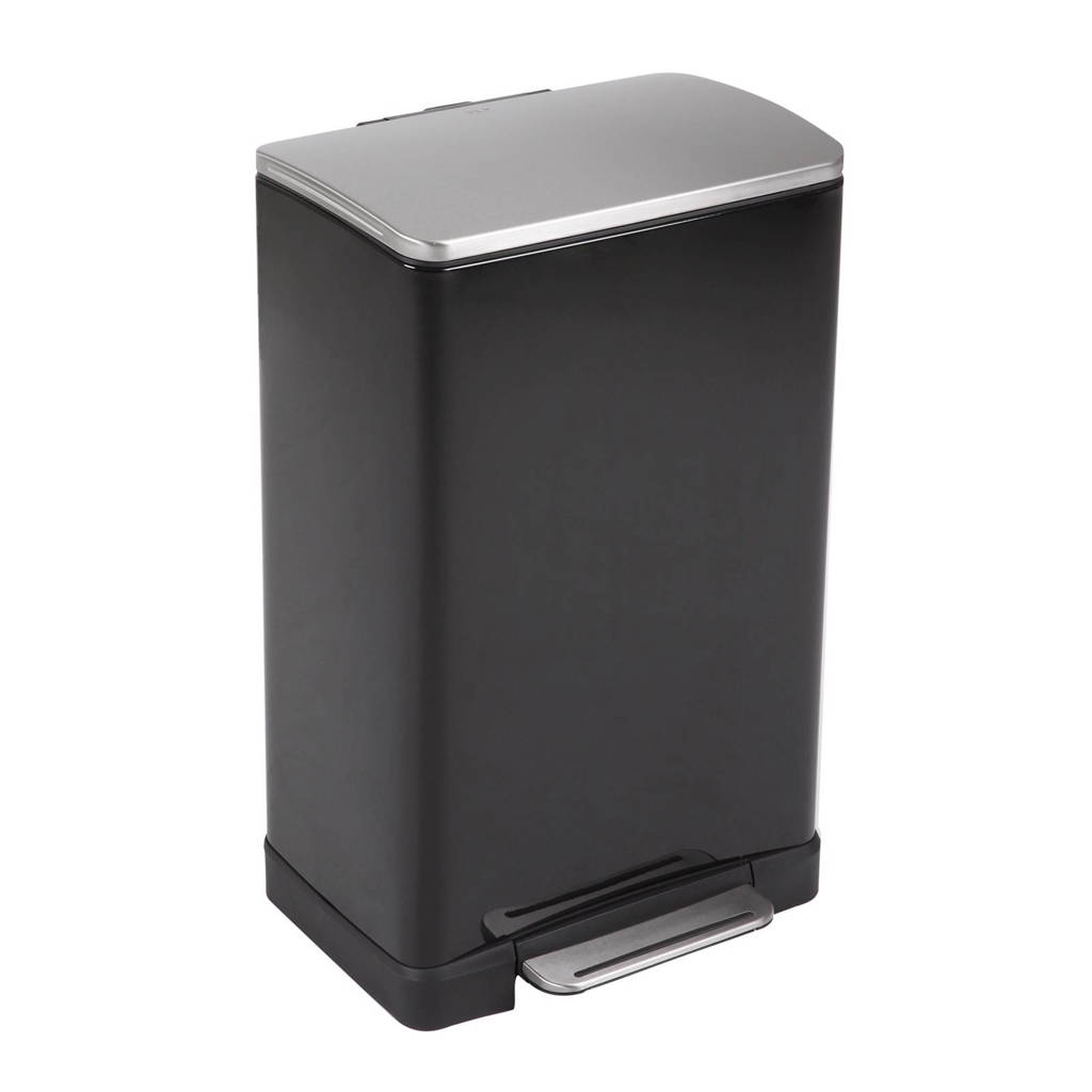 EKO E-Cube 40 liter pedaalemmer, Zwart
