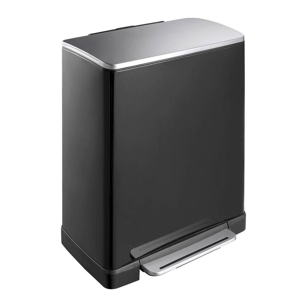 EKO E-Cube 18+28 liter pedaalemmer, 46 (28+18), Zwart