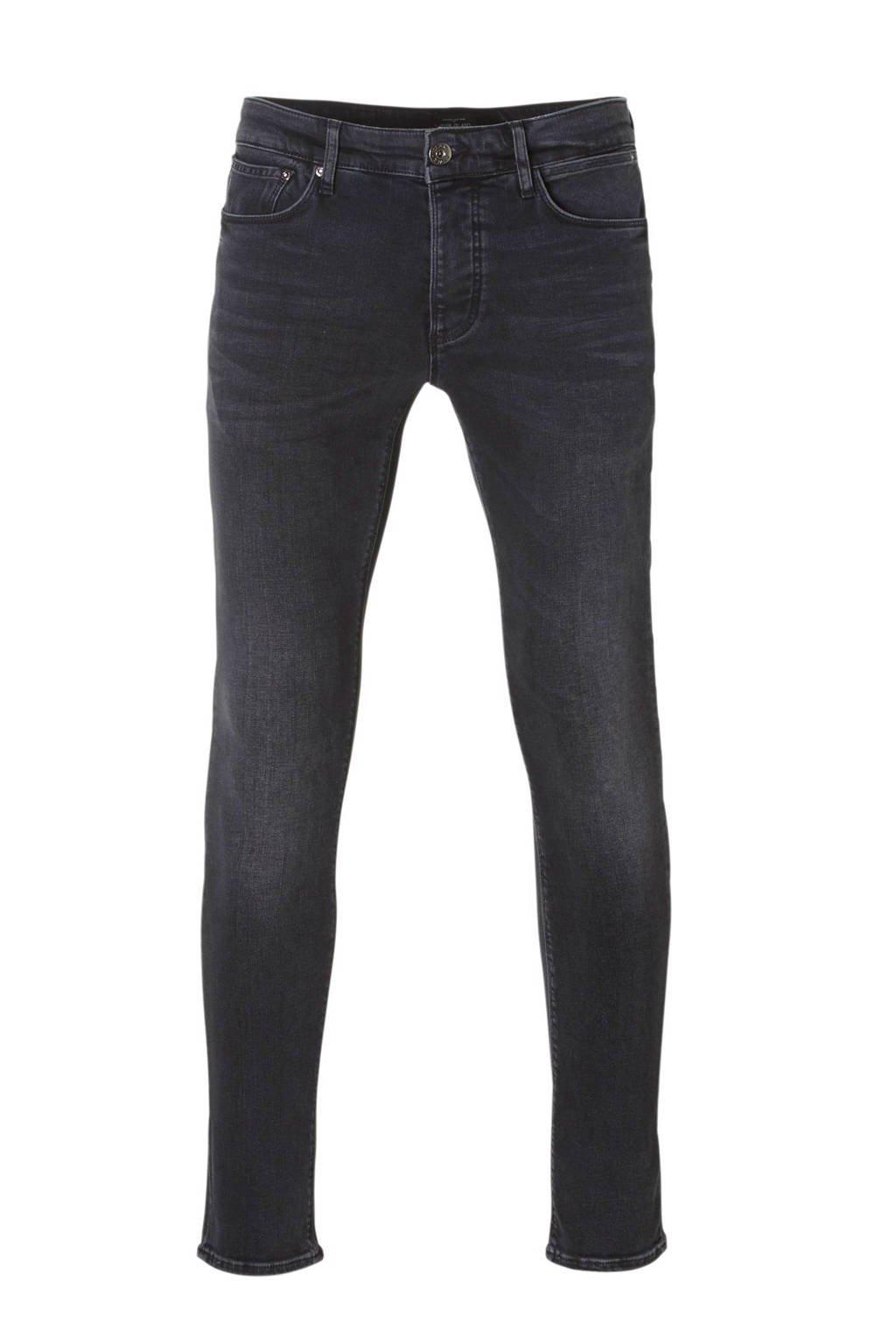 River Island skinny fit jeans Sid, Zwart