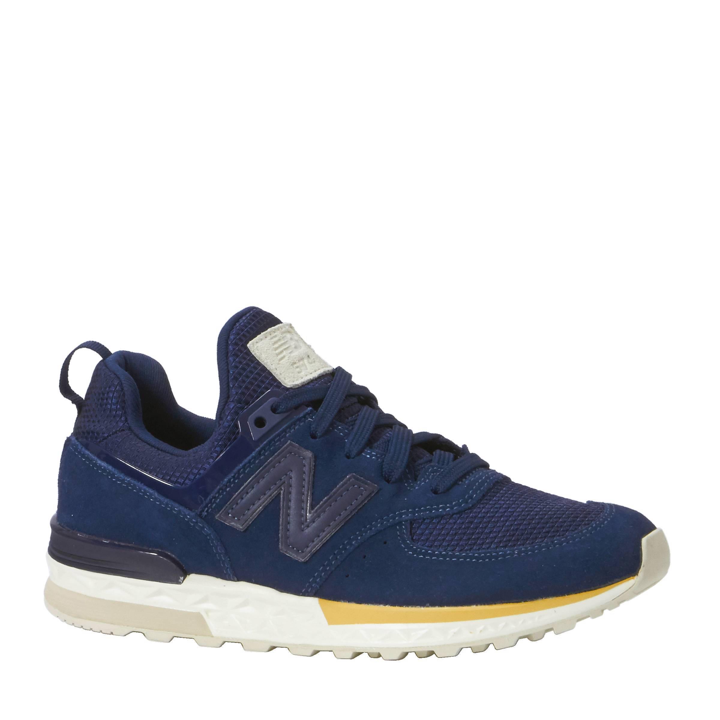 new balance 574 blauw bruin