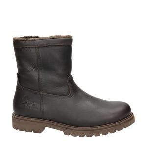 warm gevoerde leren laarzen bruin