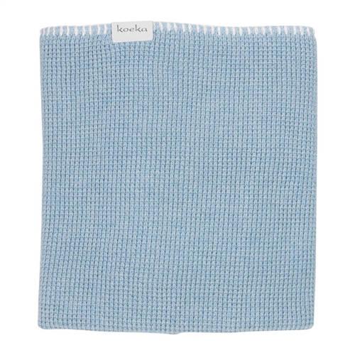 Koeka Vizela Ledikantdeken Gebreid Soft Blue 100 x 150 cm