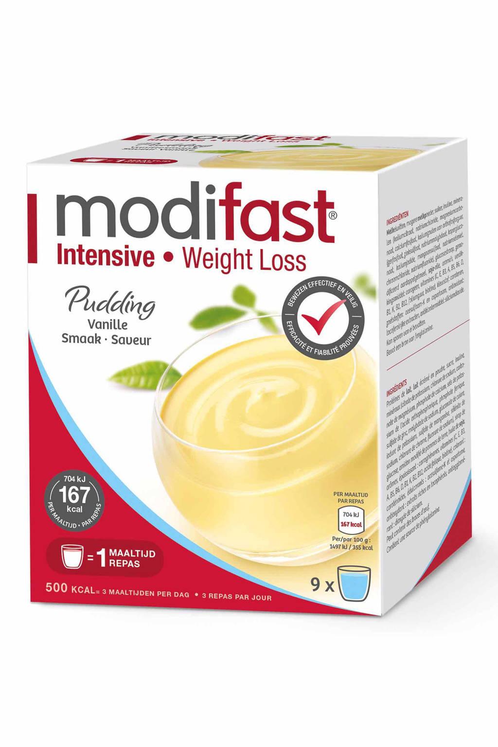Modifast Intensive pudding vanille - 1 doos met 9 zakjes