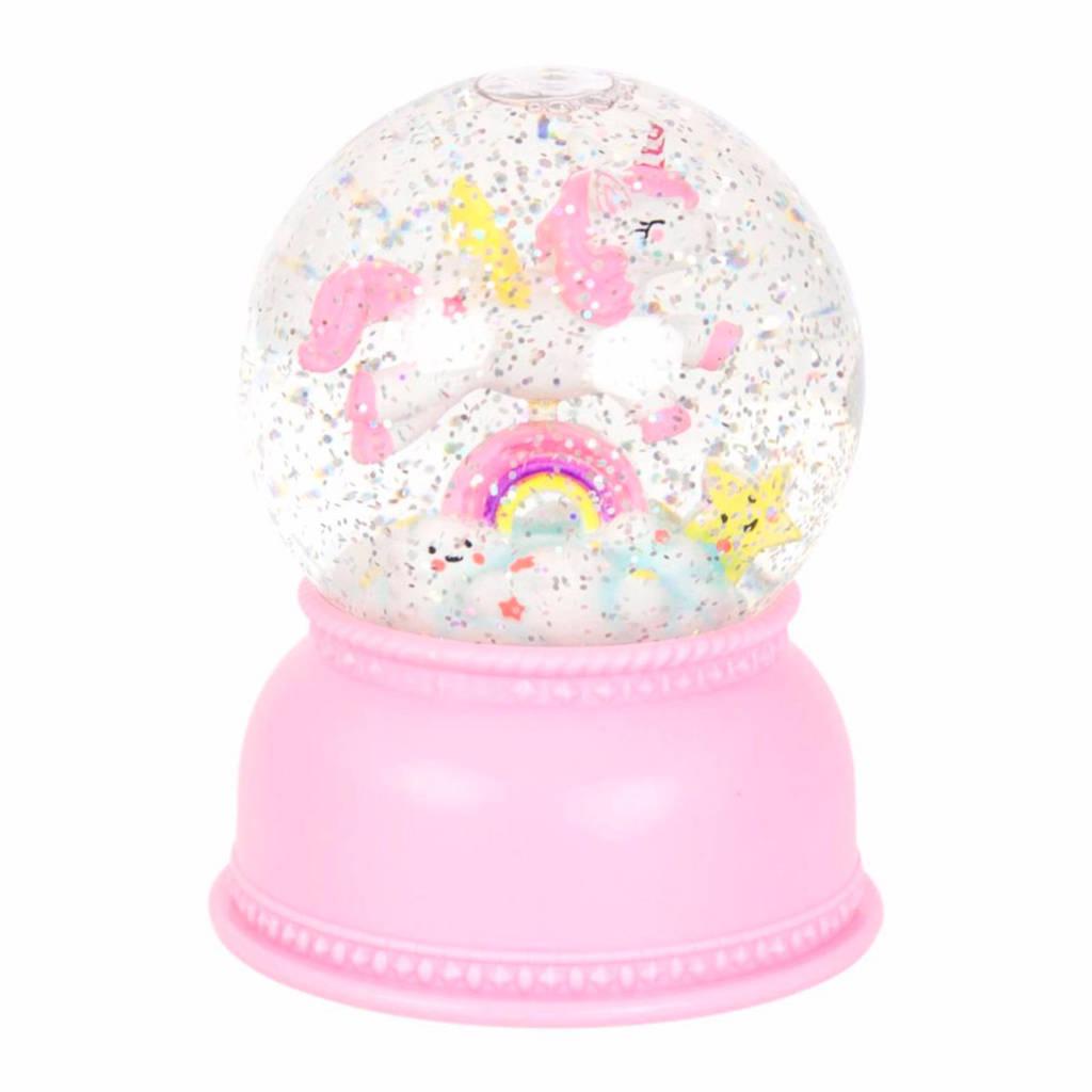 A Little Lovely Company sneeuwbol Eenhoorn, Roze/wit