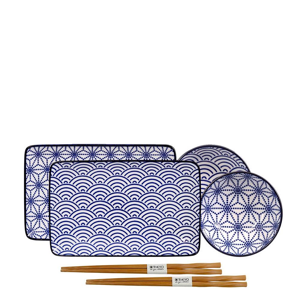Tokyo Design Studio Nippon Blue serviesset (6-delig), Blauw/wit