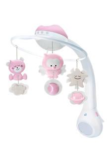 3 in 1 muziekmobiel met lampje roze