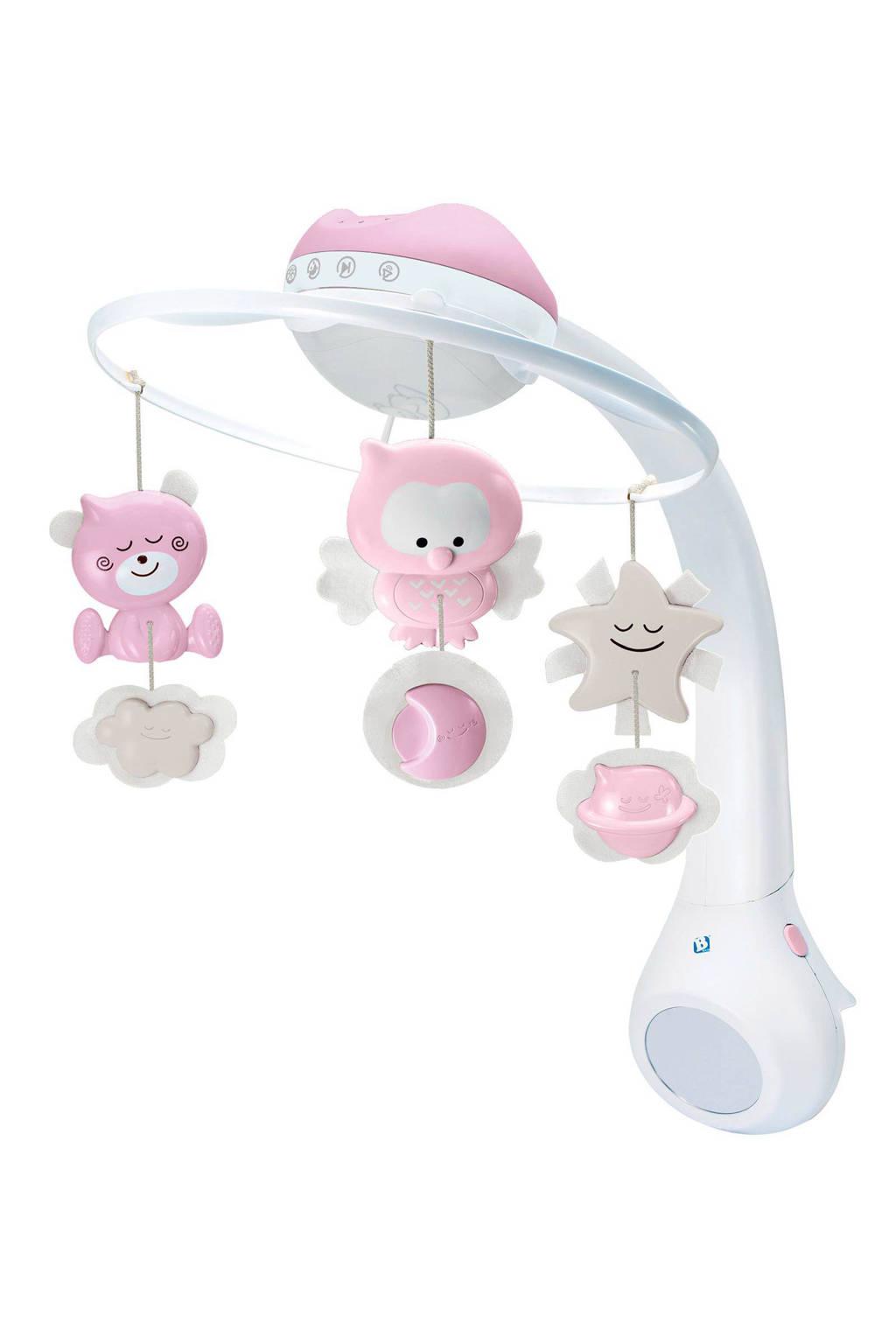 Infantino 3 in 1 muziekmobiel met lampje roze, Roze