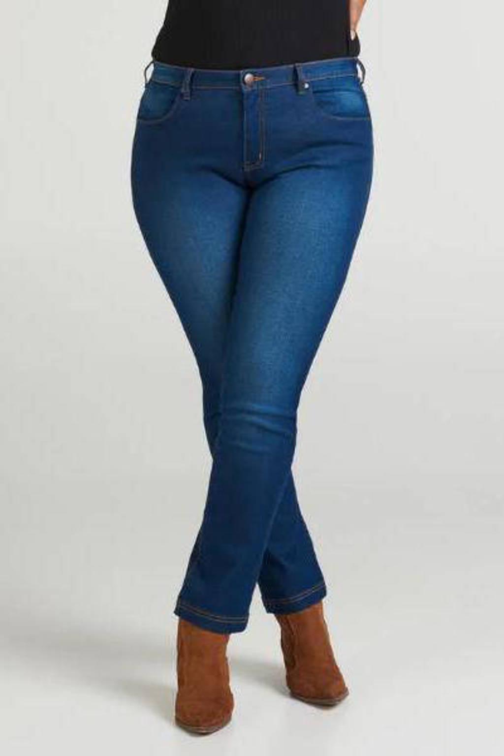 Zizzi high waist slim fit jeans Sanna dark denim, Dark denim