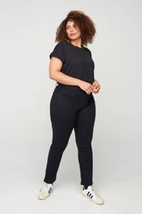 Zizzi high waist slim fit jeans Emily zwart, Zwart