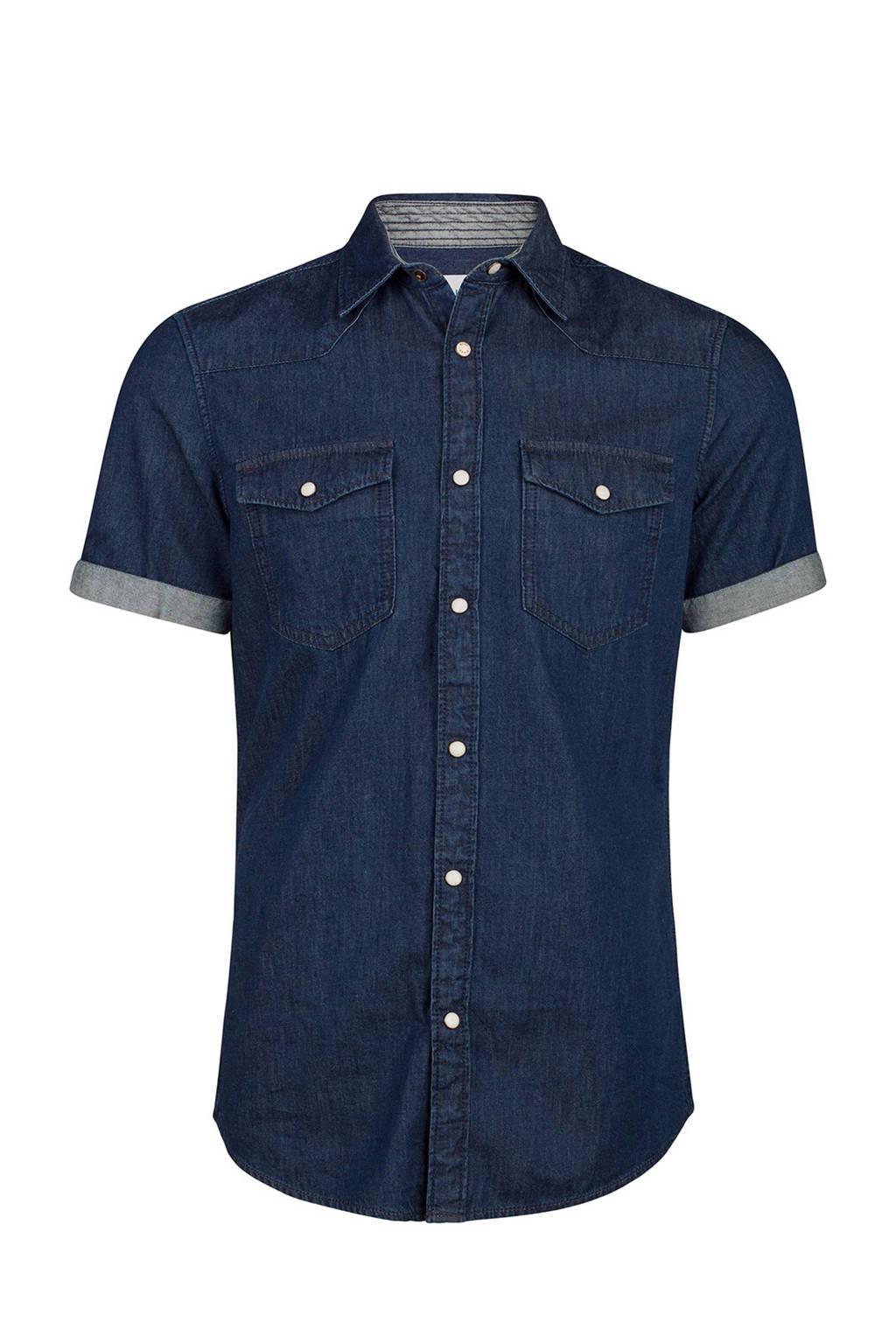 Slim Fit Denim Overhemd.We Fashion Blue Ridge Slim Fit Denim Overhemd Wehkamp
