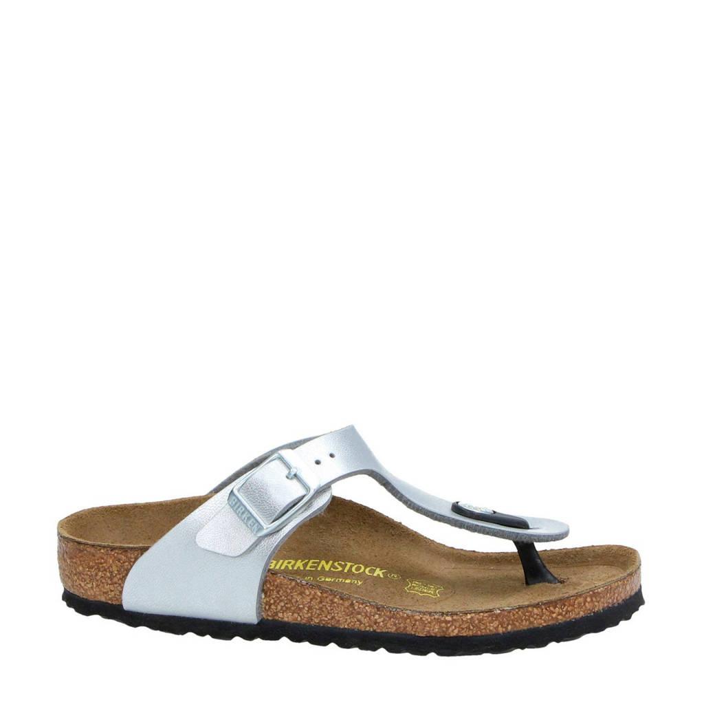 Birkenstock   Gizeh slippers, Zilver