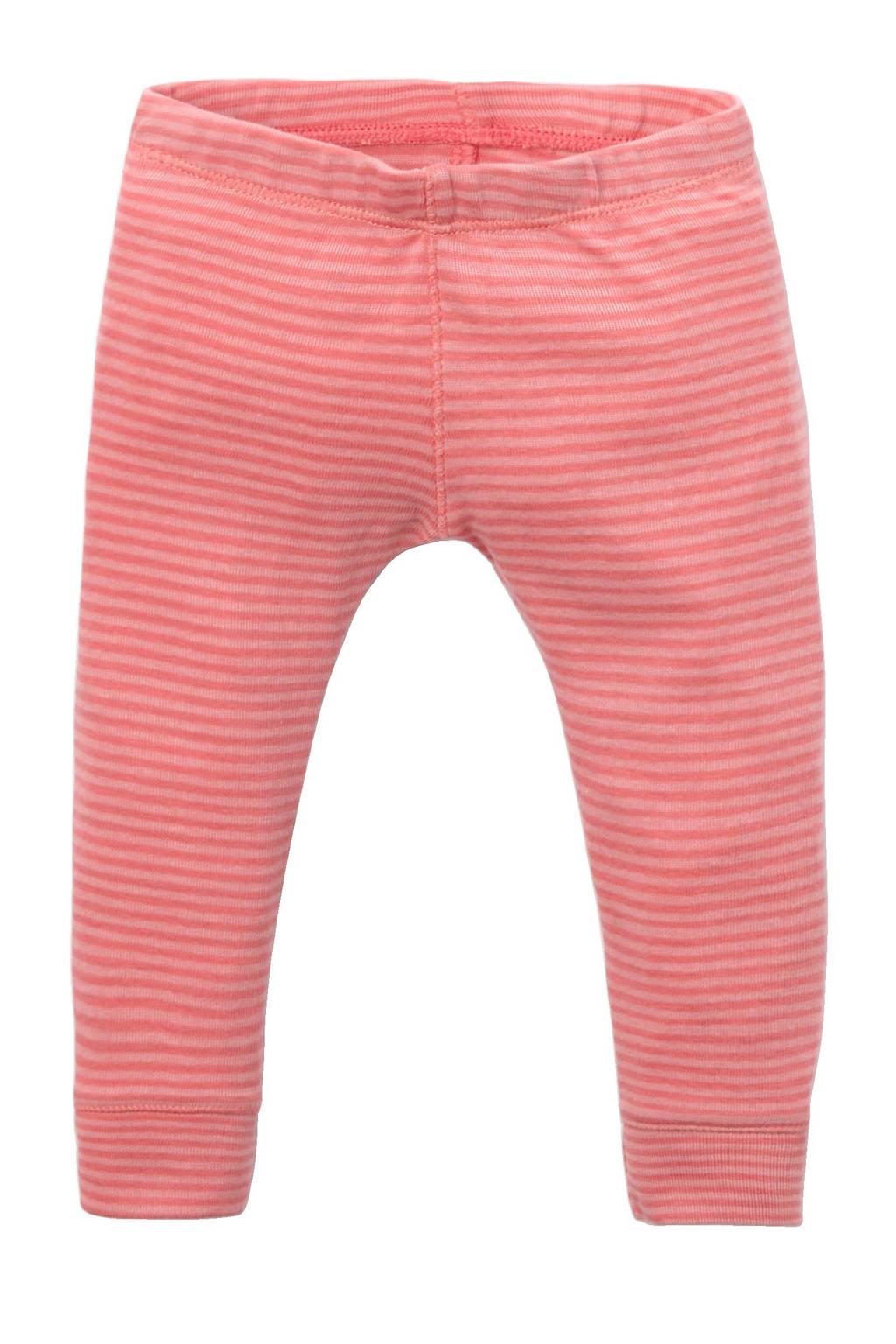 IMPS&ELFS baby gestreepte legging van biologisch katoen roze, Roze
