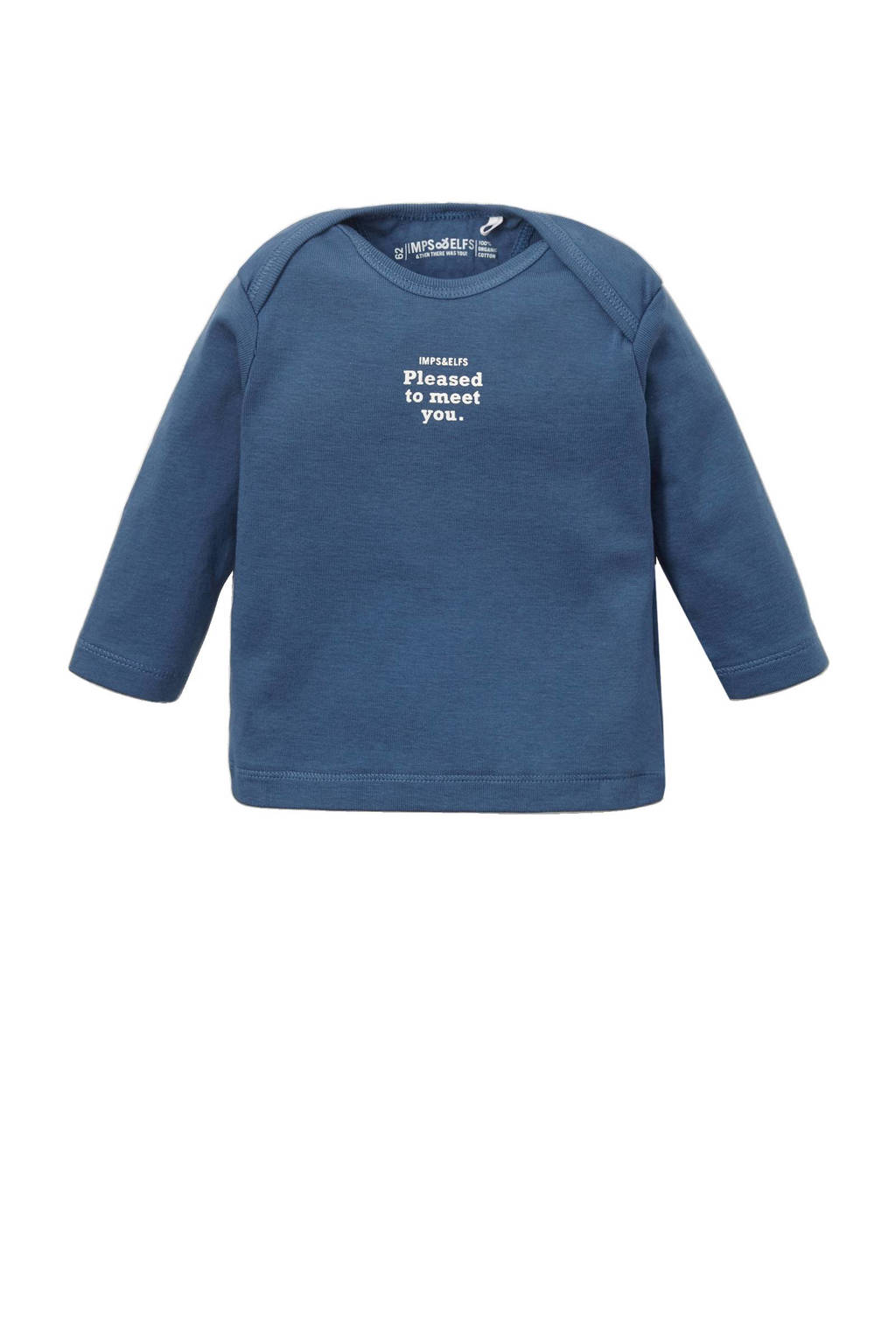 IMPS&ELFS baby newborn longsleeve, Blauw