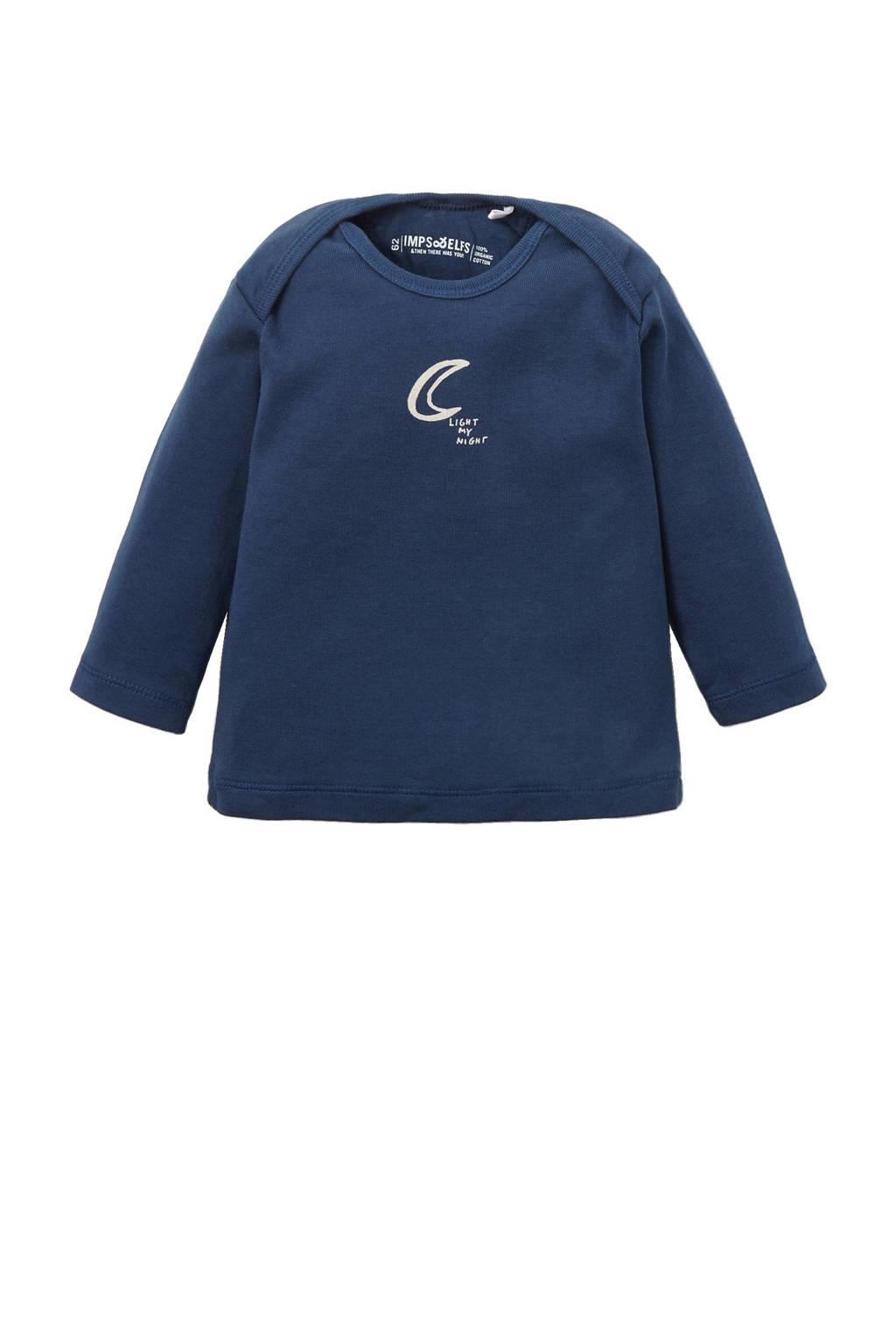 IMPS&ELFS newborn T-shirt, Donkerblauw