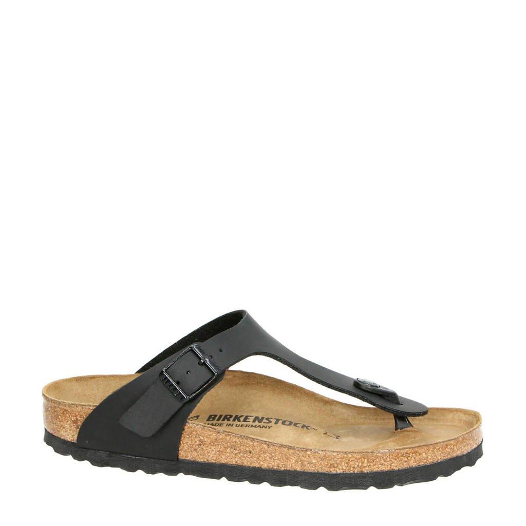 Birkenstock   Gizeh slippers zwart, Zwart