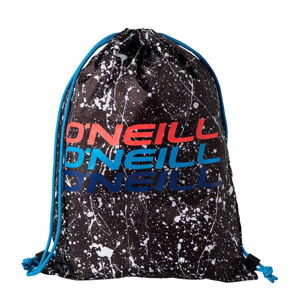 O'Neill  BM Graphic Gym aansnoer rugzak, 9910 Black AOP W/ White