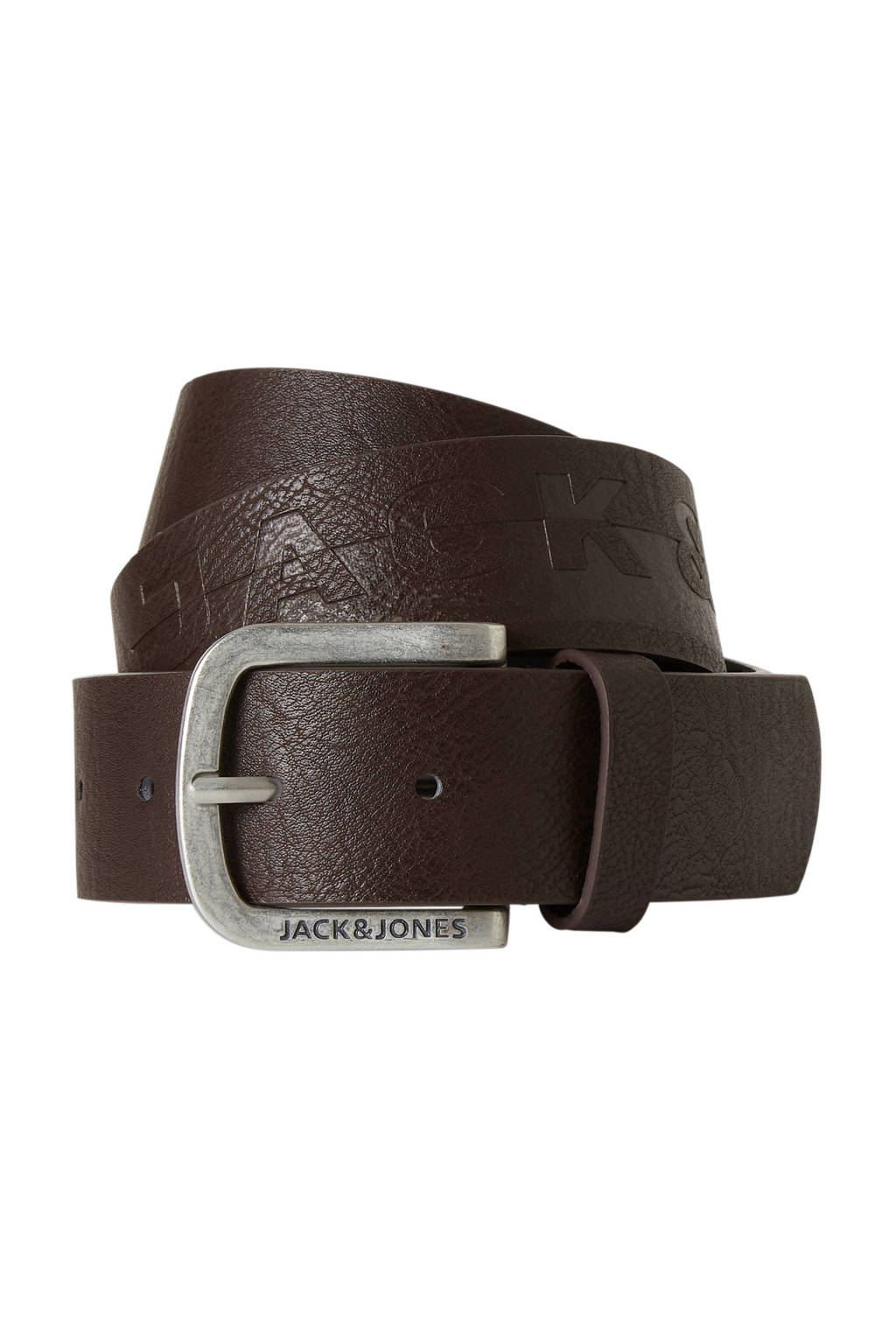 JACK & JONES leren riem, Black Coffee