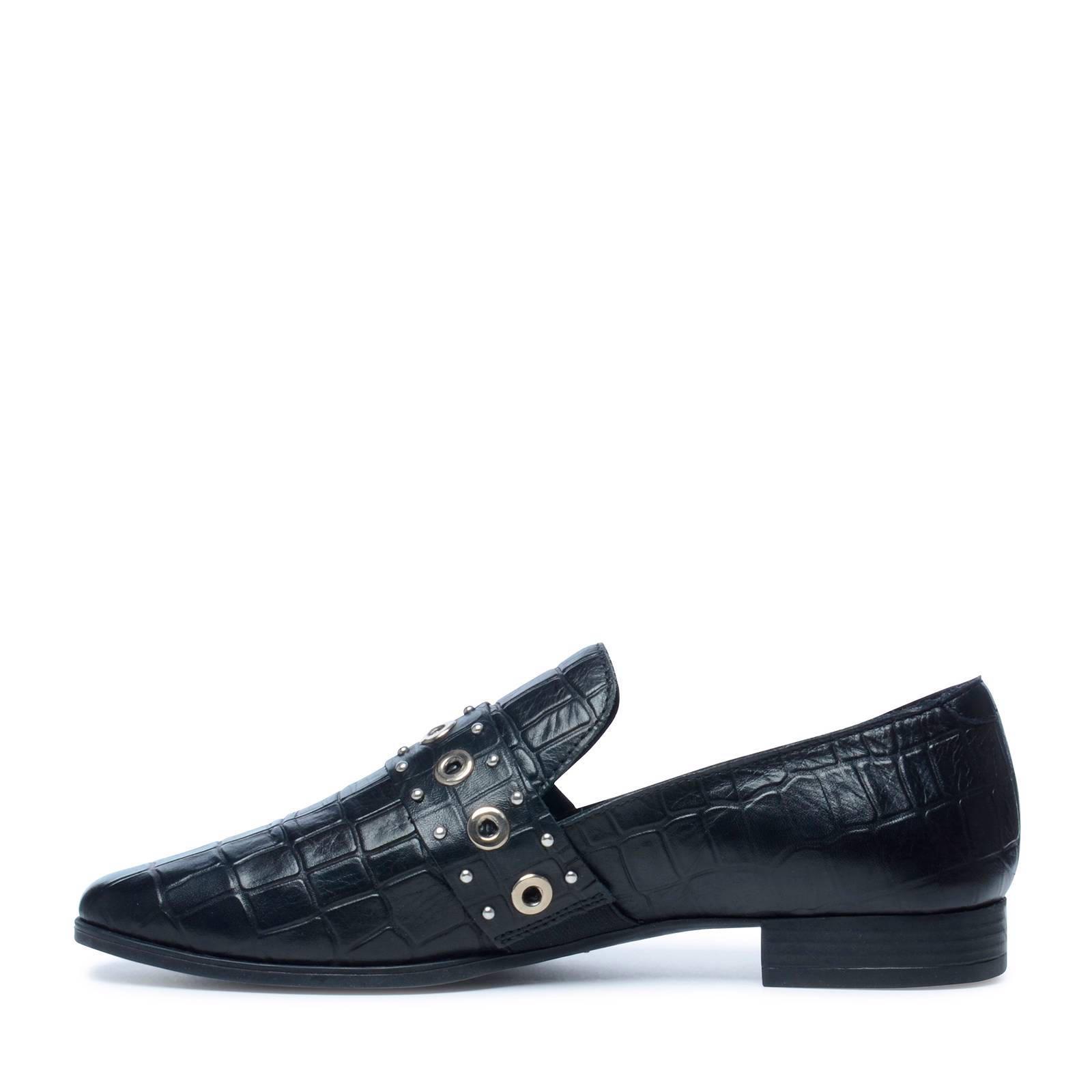 433b122f651 Manfield leren loafers met slangenprint | wehkamp