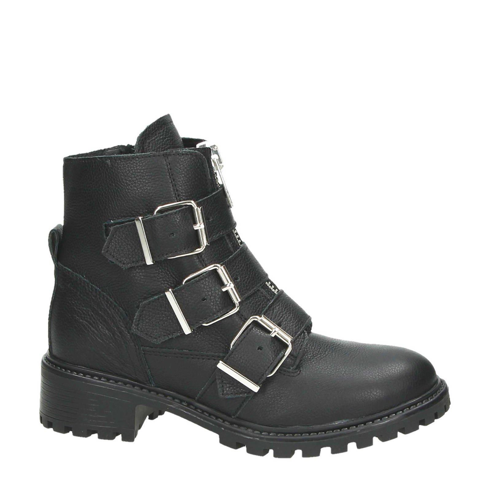 Zwarte Laarzen Laag Dames Laarzen P 322