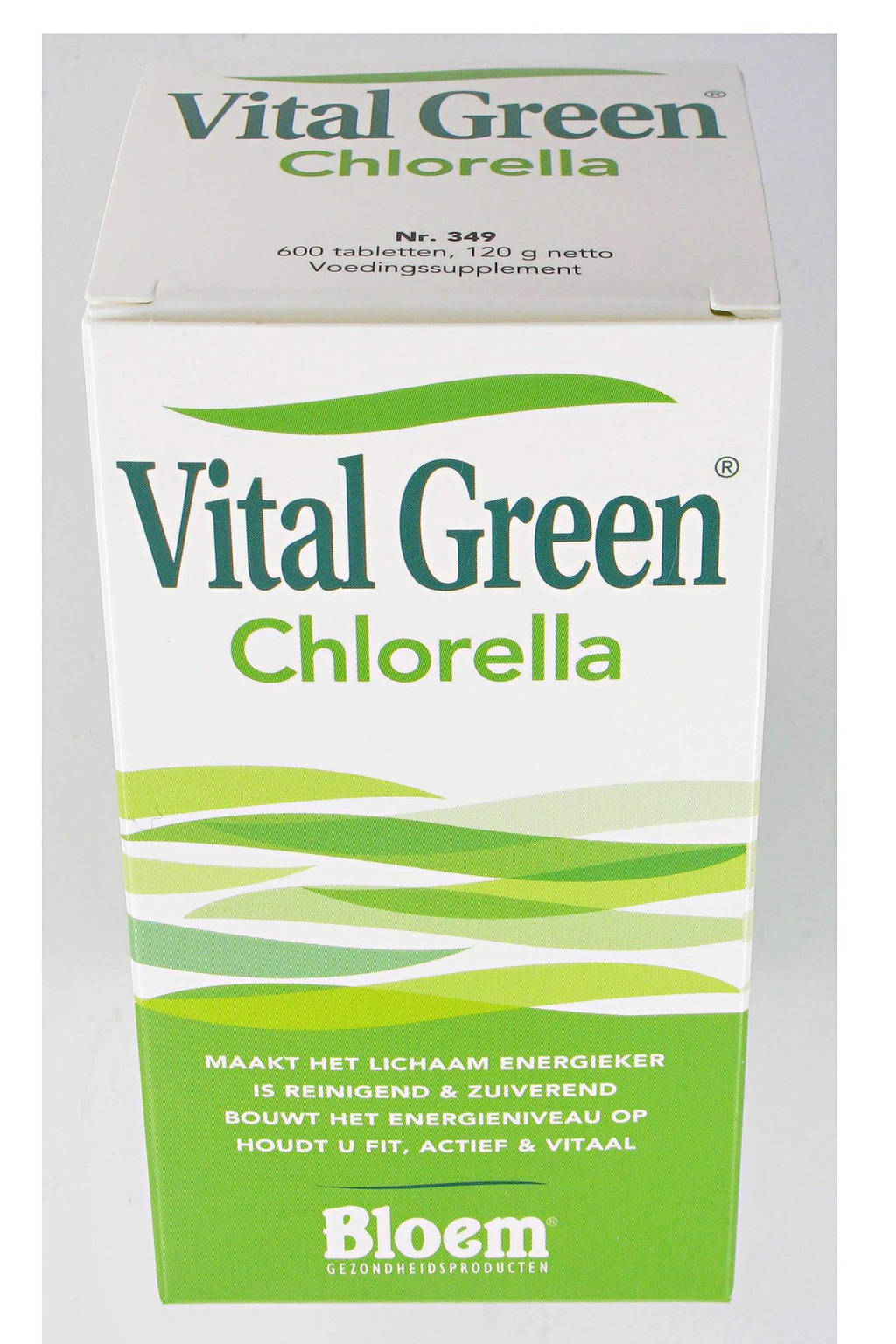Bloem Vital Green Chlorella vitaminen - 600 stuks