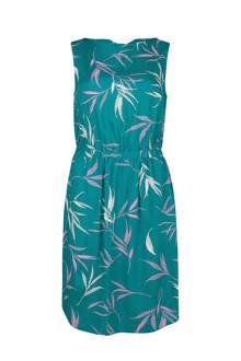 jurk met all-over print turquoise