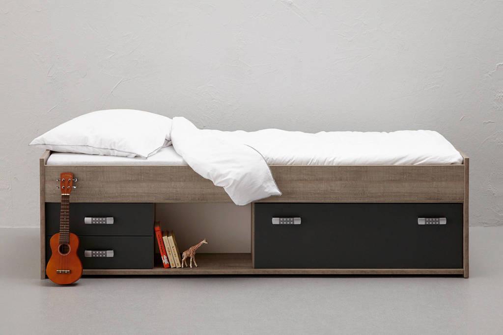 Beter Bed kajuitbed Pep (90x200 cm), Eiken/antraciet