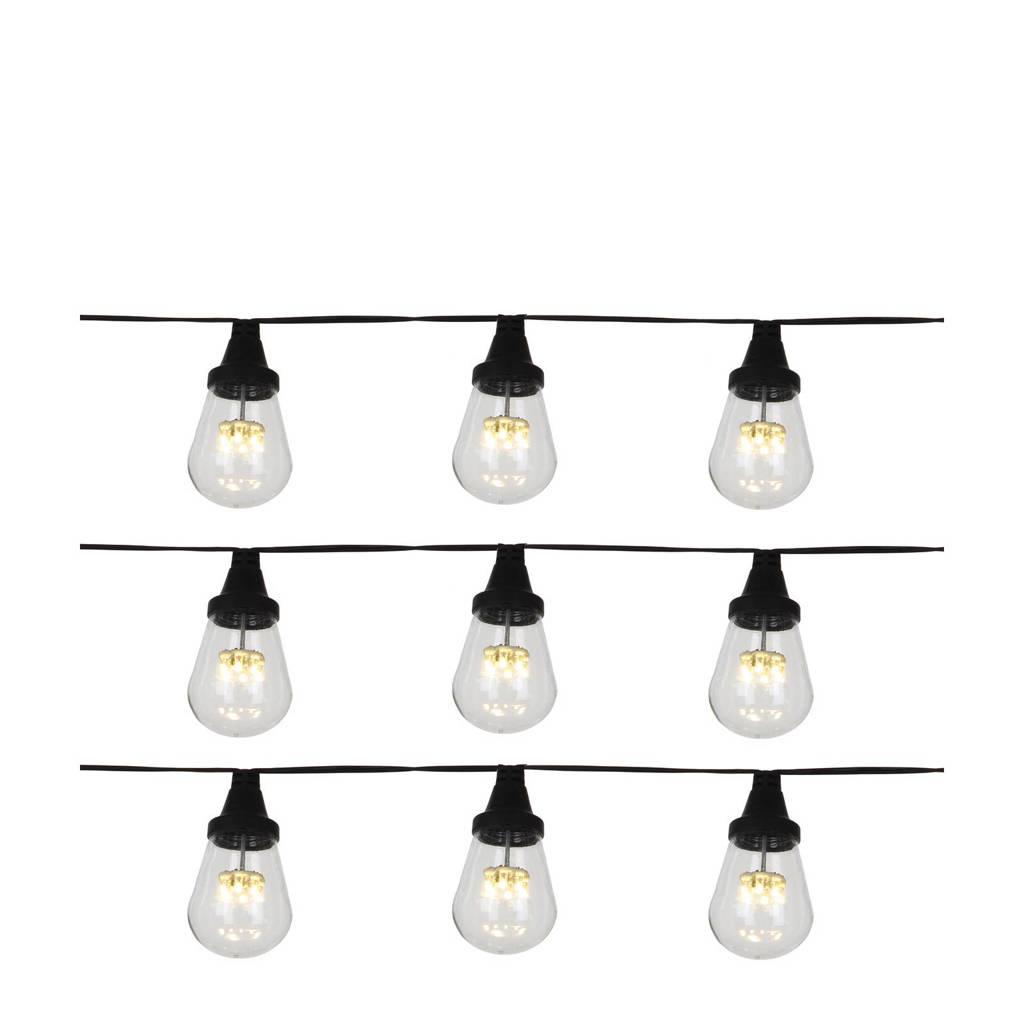 Luca Lighting lichtsnoer (15 lampen), Zwart/Warm wit