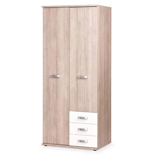 Beter Bed 2-deurs kledingkast wit Pep kopen