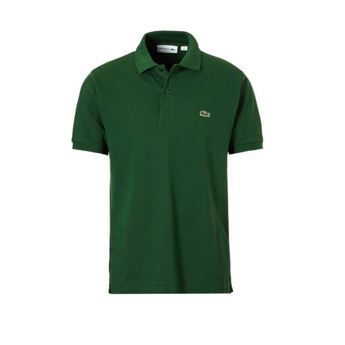 Lacoste polo Classic Fit piqué groen Small