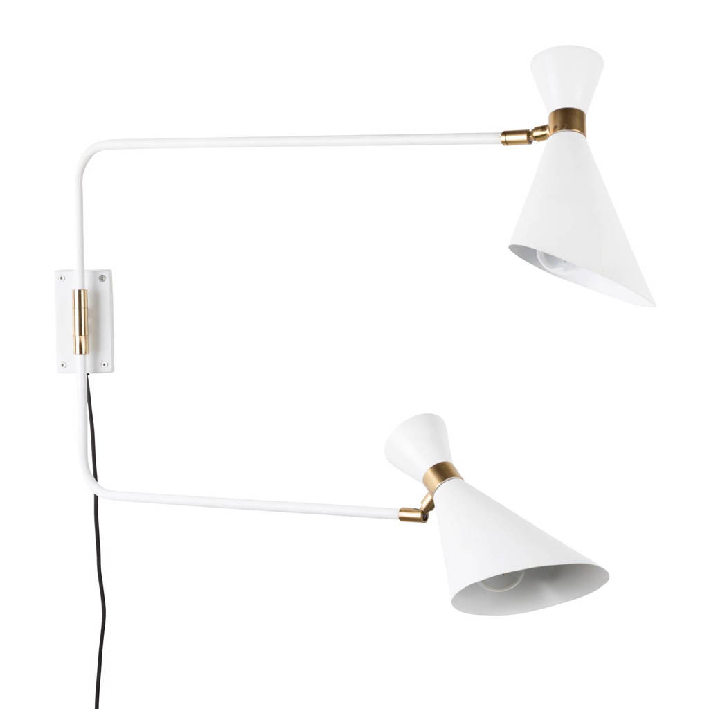 Zuiver wandlamp Shady Double, Wit