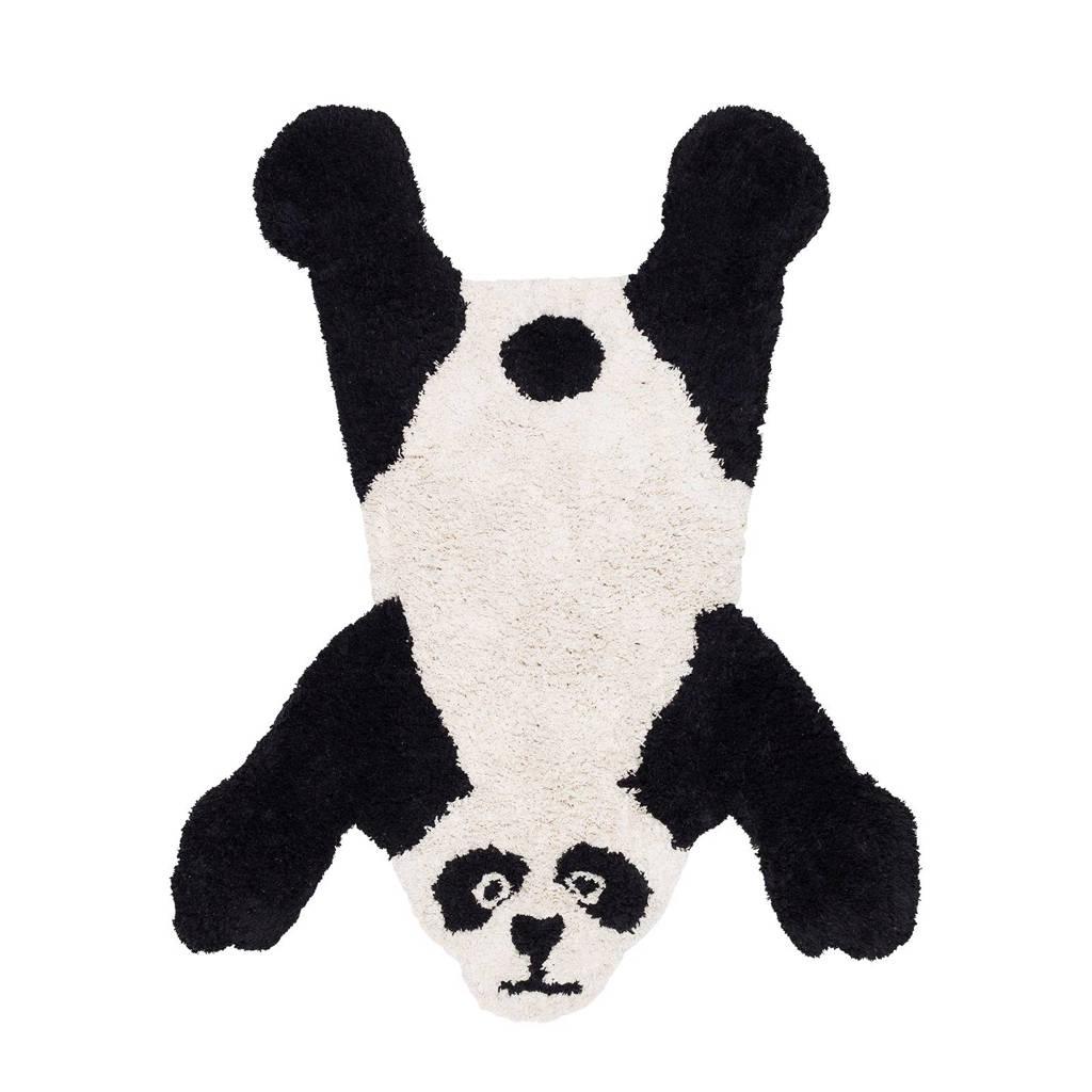 Kidsdepot vloerkleed Pete-Panda  (140x110 cm), Zwart/wit