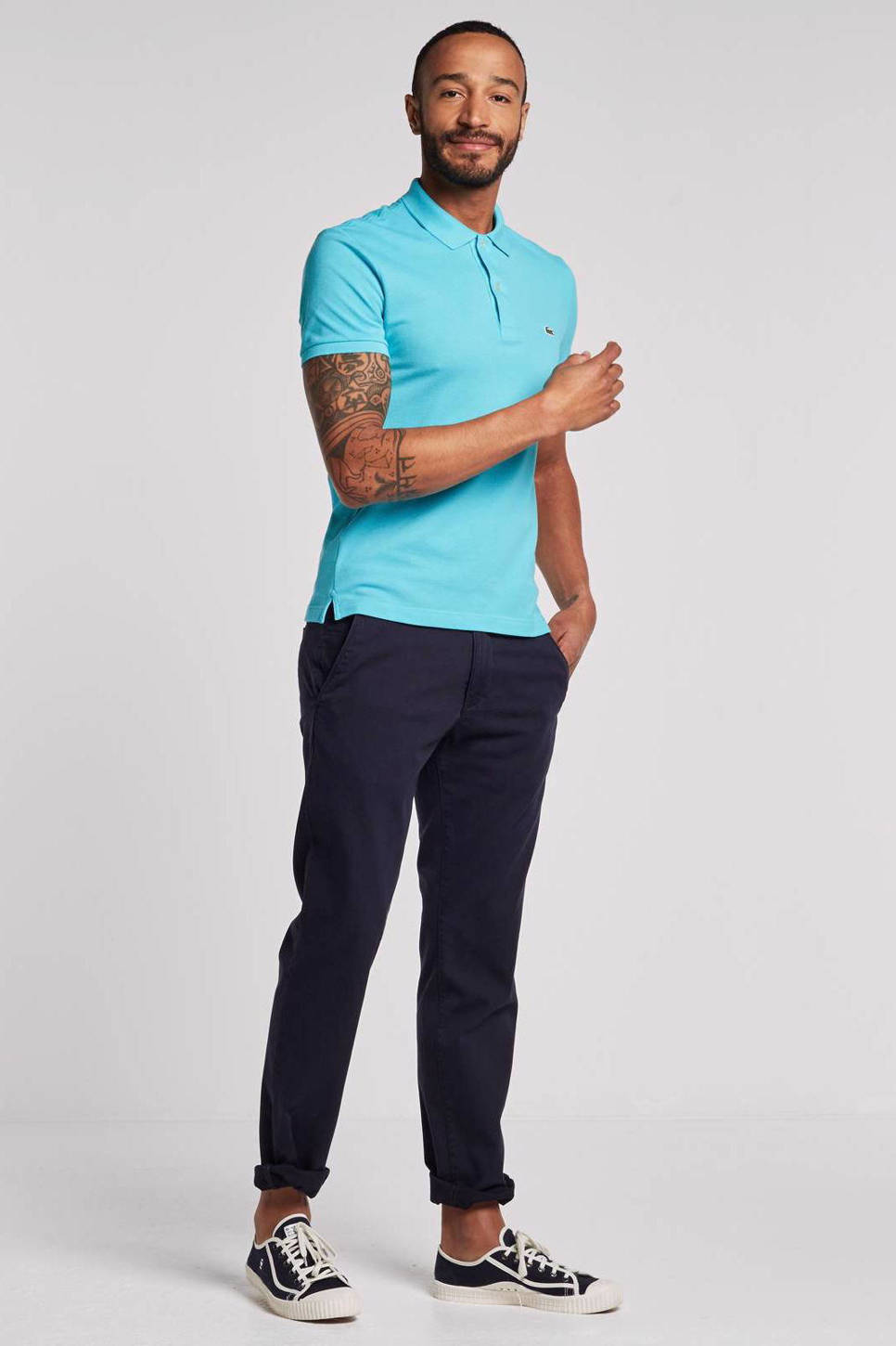 Lacoste slim fit polo, Turquoise