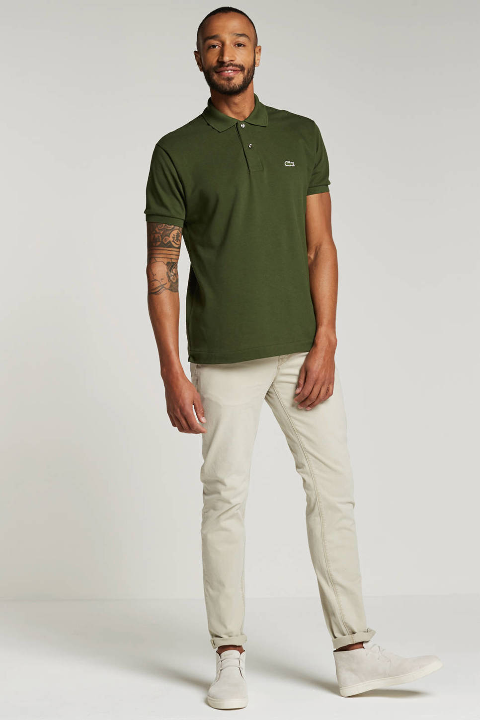 Lacoste classic fit polo, Groen