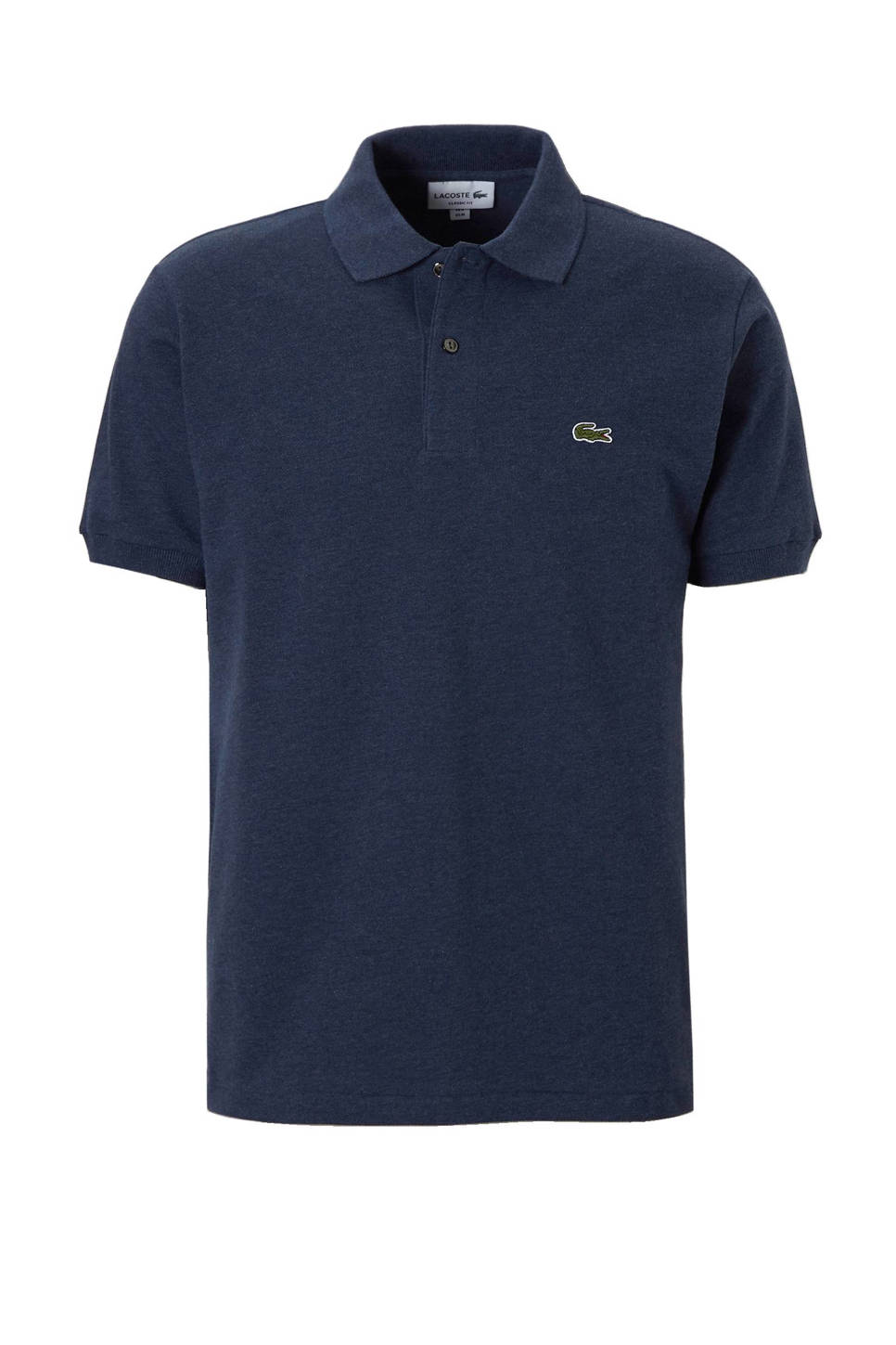 Lacoste classic fit polo, Donkerblauw melange