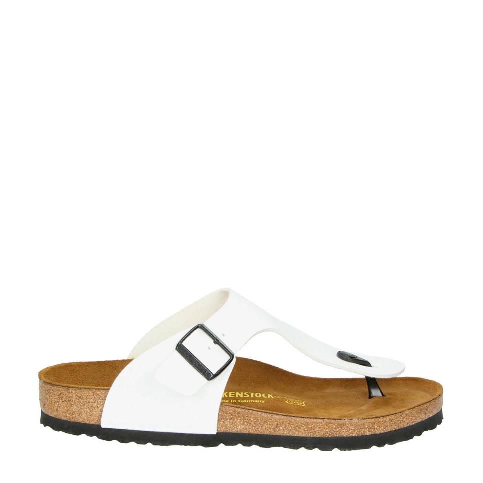 Birkenstock slippers, Wit/zwart