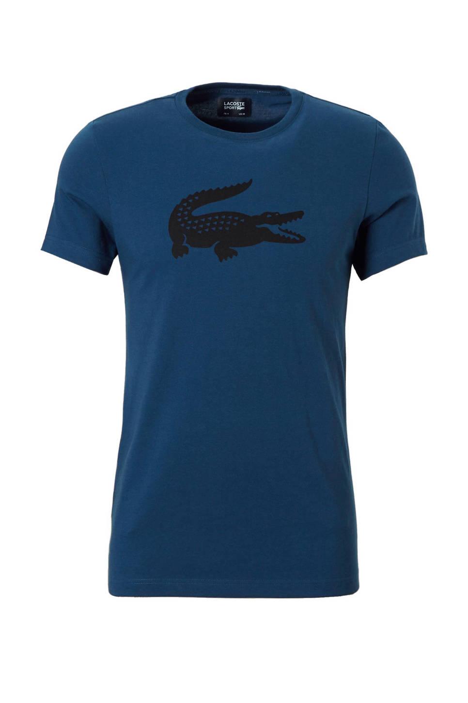 Lacoste T-shirt, blauw/ zwart