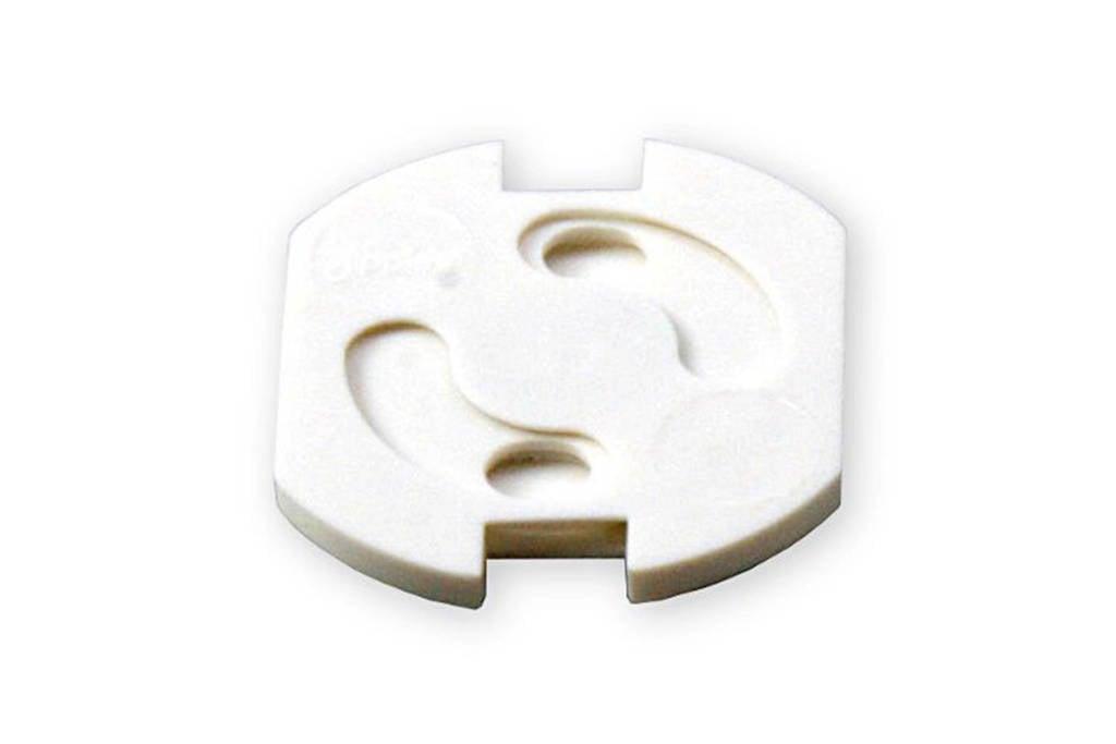 Jippie's draaistopcontact (5 stuks), Wit