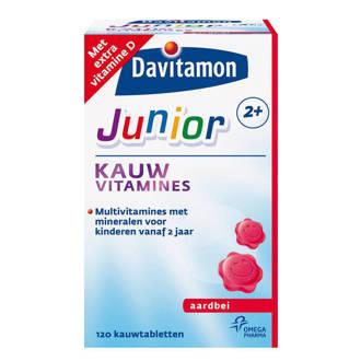 Junior 2+ aardbei 120 kauwtabletten