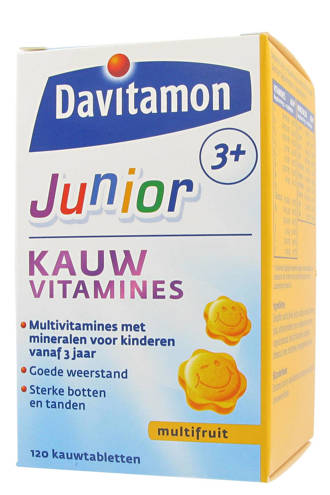 Junior 3+ Multiftuit - 120 kauwtabletten