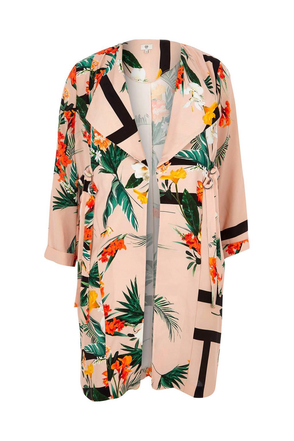 347aeab845f River Island Plus jas met bloemenprint, 100% Polyester