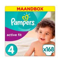 Pampers Active Fit maandbox maat 4 (8-16 kg) 168 luiers