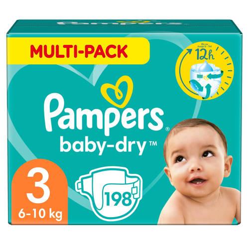 Pampers Baby-Dry maandbox maat 3 (6-10 kg) 198 luiers kopen