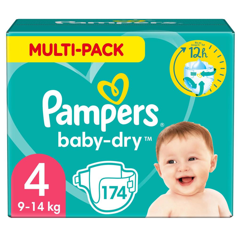 Pampers Baby-Dry maandbox maat 4 (9-14 kg) 174 luiers