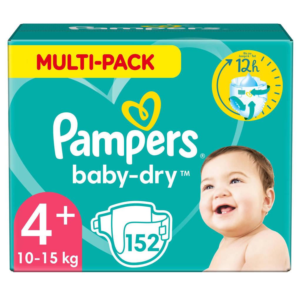 Pampers Baby-Dry maandbox maat 4+ (10-15kg) 152 luiers, 4+ (10-15 kg)