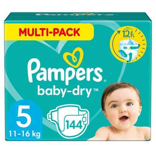 Wehkamp-Pampers Baby-Dry maandbox maat 5 (11-16 kg) 144 luiers-aanbieding