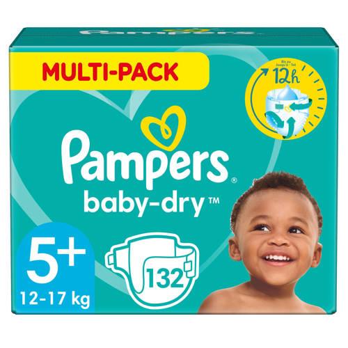 Pampers Baby-Dry maandbox maat 5+ (12-17 kg) 132 luiers kopen