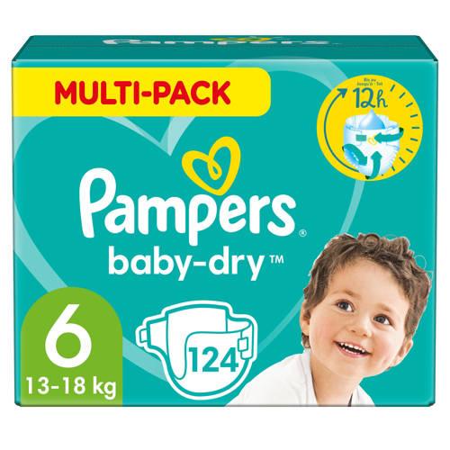 Pampers Baby-Dry Maandbox Maat 6 (Extra Large) 15+ kg- 124 Luiers