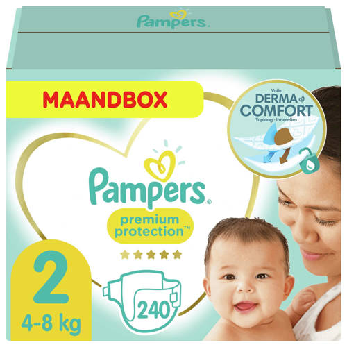 Pampers New Baby Maandbox Maat 2 (Mini) 3-6 kg 240 luiers